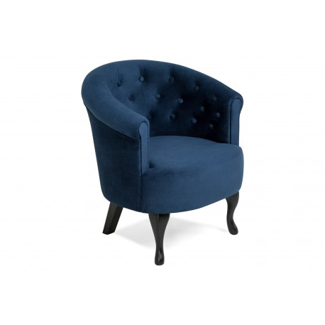 "Fotoliu ""MADALINA PETROL BLUE"", L69xA65xH74 cm"