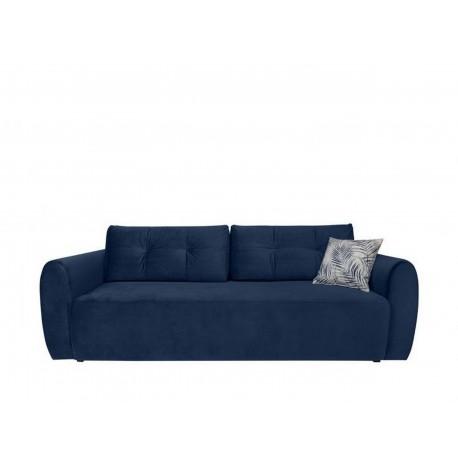 "Canapea extensibila cu lada de depozitare, ""DIVALA"" L239xA192xH88 cm, Albastra"