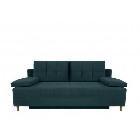 """Canapea extensibila cu lada de depozitare, """"MONTILA"""" L201xA100xH89 cm, Turcoaz"""