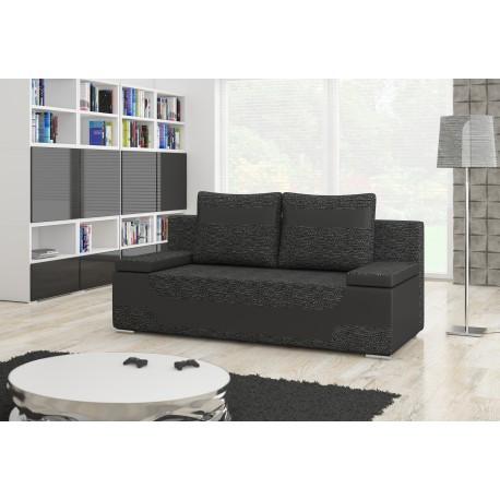 "Canapea extensibila cu lada de depozitare, ""AREA"" negru/gri , L200xA92xH90 cm"