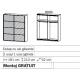 Dulap cu usi glisante GANDRA 181x210x62
