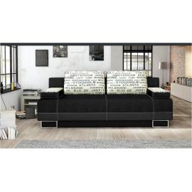 Canapea extensibila cu lada de depozitare OPTIMA neagra