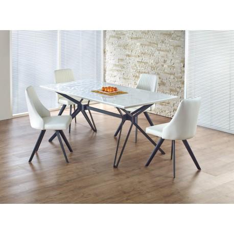 Set Masa din MDF Pascal White + 4 scaune K206