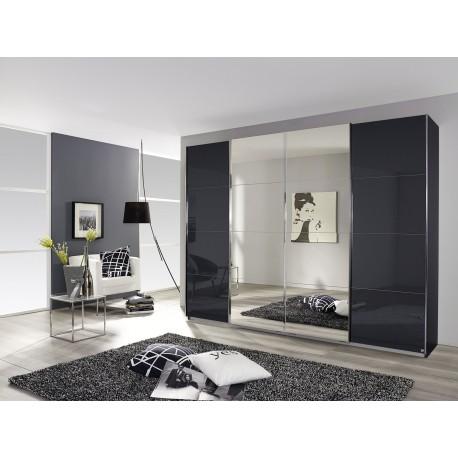 Dulap cu usi glisante si oglinda, cu sticla SYNCRONO, 361x230x62 cm