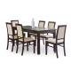 Masa dining extensibila ERNEST, nuc, 160-200/80/74 cm