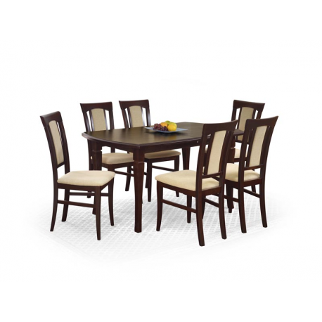Masa dining extensibila FRYDERYK, nuc, 160-240/90/74 cm
