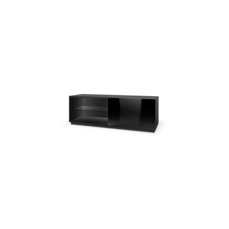 Comoda LIVO RTV 120, cu sistem de prindere, neagra