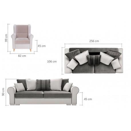 Canapea extensibila 4 locuri DELUXE
