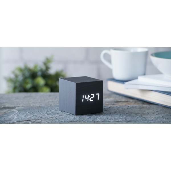 Ceas inteligent Cube Black Click Clock/White Led
