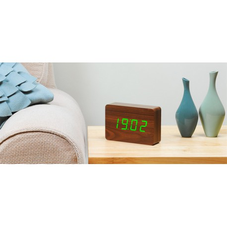 Ceas inteligent BRICK WALNUT CLICK CLOCK/Green LED