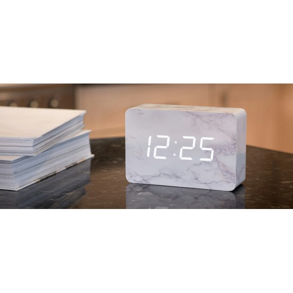 Ceas inteligent BRICK MARBLE CLICK CLOCK/White LED