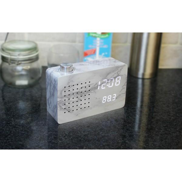 Ceas inteligent cu Radio Marble Click Clock