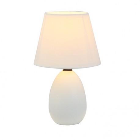 Lampa de masa ceramica, alba, QENNY