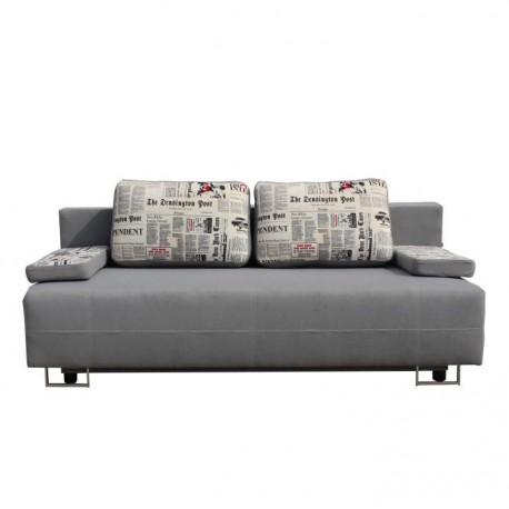 Canapea extensibila cu lada de depozitare, Elize, gri