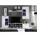Living complet, alb, FRONTAL 1