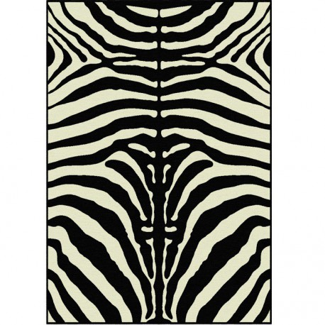 ARWEN covor 40x60 cm cu model de zebră, 100% viscoză