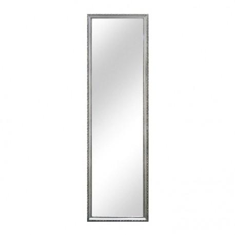 Oglindă, ramă argintie din lemn, 38x128 cm, MALKIA