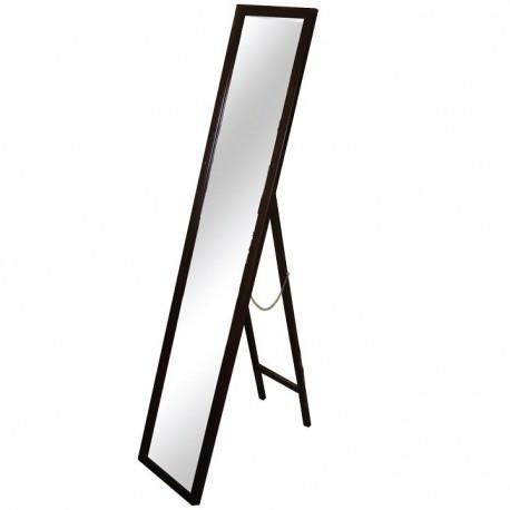 Oglindă, ramă din lemn în culoarea maro, 29x145 cm, MALKIA