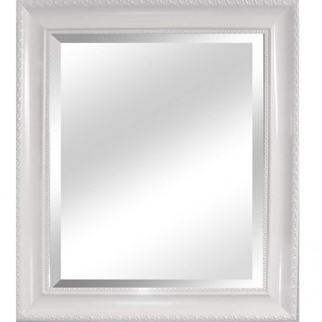 Oglindă, cadru alb, 54x64 cm, MALKIA