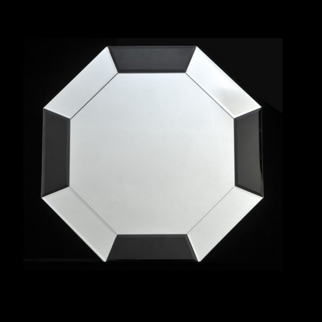 Oglindă, negru/alb, 60x60 cm, ELISON