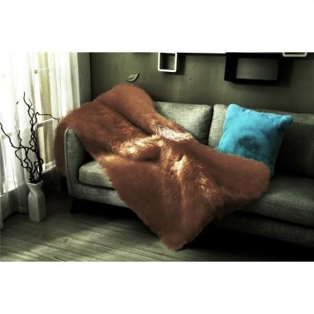 Pătură pufoasa, maro, 150x170, EBONA
