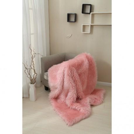 Pătură pufoasa, roz, 150x170, EBONA