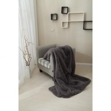 Pătură de pufoasa, gri, 150x170, RABITA