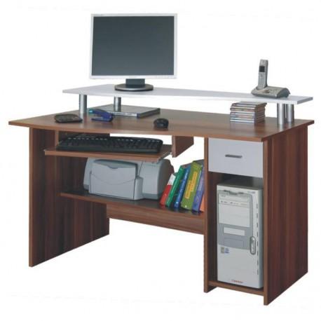 Birou pentru PC, stejar/alb , PLUTO