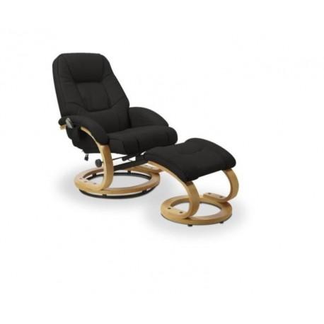 Fotoliu relaxare negru cu masaj MATADOR