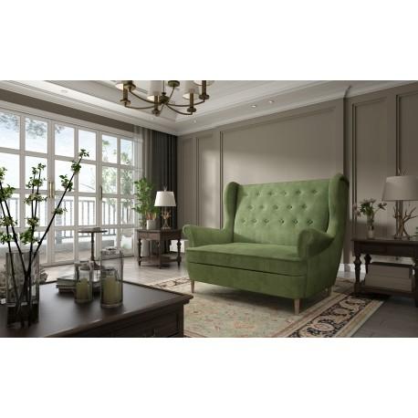 Canapea fixa AROS verde,L155xA90xH103