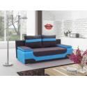 """Canapea extensibila cu lada de depozitare, """"AREA"""" albastru/negru , L200xA92xH90 cm"""