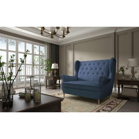 Canapea fixa AROS albastru,L155xA90xH103
