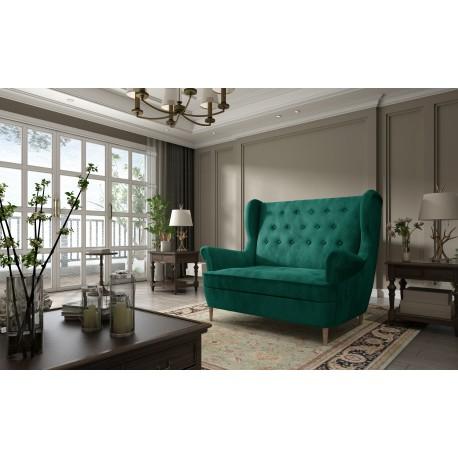 Canapea fixa AROS verde inchis,L155xA90xH103