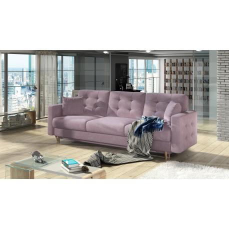 """Canapea extensibila cu lada de depozitare """"ASGARD"""" roz, L235xA95xH86"""
