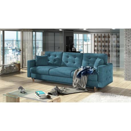 """Canapea extensibila cu lada de depozitare """"ASGARD"""" albastru, L235xA95xH86"""