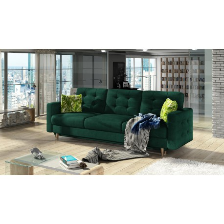 "Canapea extensibila cu lada de depozitare ""ASGARD"" verde inchis, L235xA95xH86"