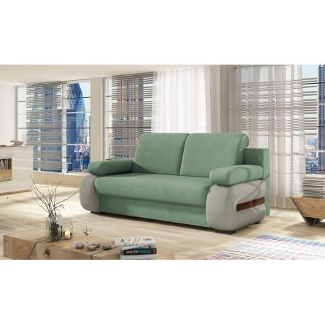 """Canapea extensibila cu lada de depozitare """"LAURA"""" verde, L200xA97xH90"""