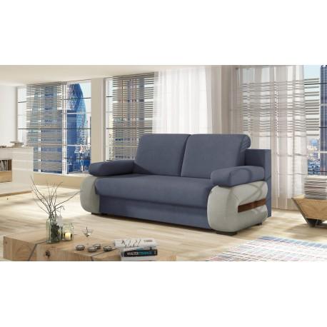 """Canapea extensibila cu lada de depozitare """"LAURA"""" albastru, L200xA97xH90"""