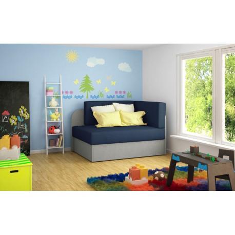 """Canapea extensibila cu lada de depozitare """"ROSA"""" albastru,L104xA75xH60"""